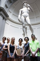 SACI sculpture students visiting the Accademia and the David