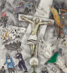 White Crucifixion Marc Chagall (Moishe Segal; Vitebsk 1887–Saint-Paul-de-Vence 1985), 1938. Oil on canvas, 155 x 139.8 cm, Chicago, The Art Institute of Chicago, Gift of Alfred S. Alschuler, 1946.925 © Chagall ®, by SIAE 2015