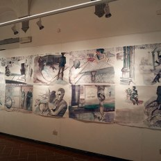 """Carole Robb, """"To Whom it May Concern,"""" watercolor on paper, 5.4m x 1.5m, 2015"""