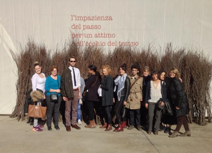 SACI MFA in Studio Art students visiting the Merz Foundation, Turin