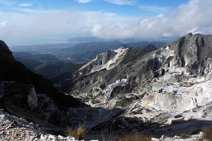 Apuan Alps marble valley