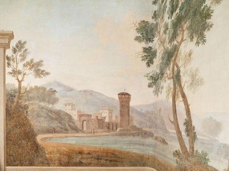 Wall fresco in SACI's Faculty Lounge, Palazzo dei Cartelloni. Photo ©Cristian Ceccanti.