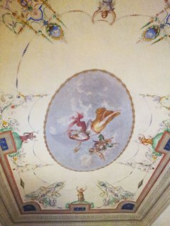 Ceiling fresco in SACI's Faculty Lounge, Palazzo dei Cartelloni.
