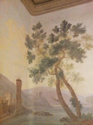 Wall fresco in SACI's Faculty Lounge, Palazzo dei Cartelloni.