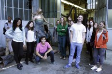 SACI sculpture students visiting a casting studio of Carrara