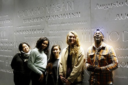 SACI students visiting the Museo del Duomo, Florence