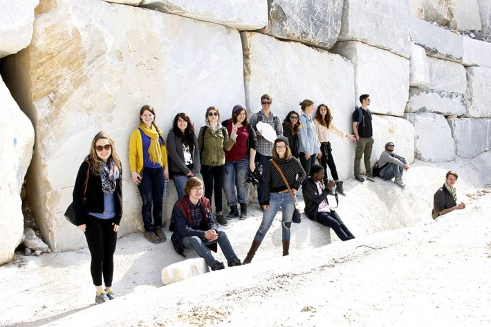 SACI Sculpture field trip to Carrara