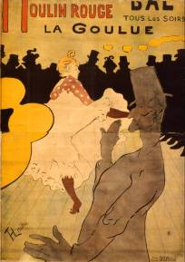 "Henri de Toulouse-Lautrec ""Moulin Rouge, La Goulue,"" 1891 color lithograph poster, private collection"