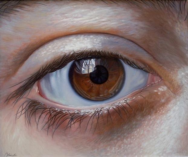 "Gregory Blanche: ""Eye (L'occhio),"" 19.6 x 23.6 inches (50 x 60 cm), oil on canvas, 2009"