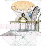 Architectural Drawing by Sylvie Duvernoy - Cappella Pazzi