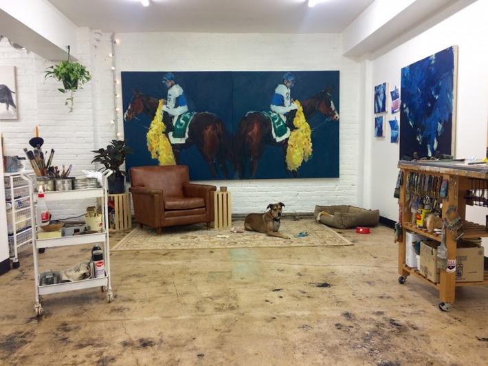 Katie Pumphrey's studio