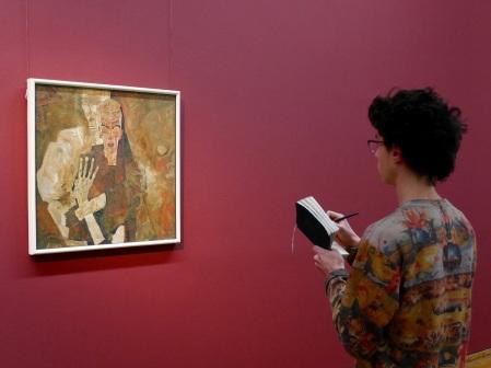 SACI student at the Egon Schiele exhibit, Leopold Museum, Vienna