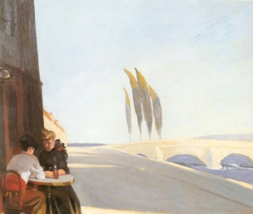 """Edward Hopper (1882 1967), """"Le Bistro"""" or """"The Wine Shop"""" 1909, oil on canvas, 61x 73.3 cm. Whitney Museum of American Art, New York; Josephine N. Hopper Bequest © Heirs of Josephine N. Hopper, Licensed by Whitney Museum of American Art"""