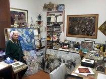 Ornella Baratta Bon in her studio, Florence, Photo: Naomi Muirhead