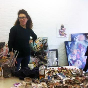 Alisa Margolis studio visit, Berlin