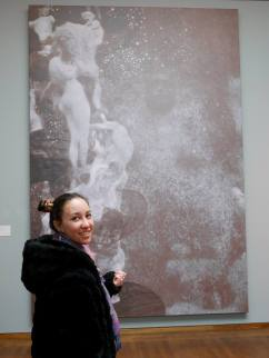 SACI student in the Leopold Museum, Vienna
