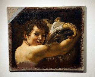"Linda Kay Papadakis, ""Homage to Caravaggio,"" oil on canvas, 2015-2016"