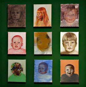 "Jessica J. Taylor; ""Air,"" oil, charcoal, acrylic on wall, 2015-2016"