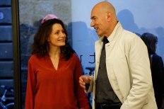 Biagiotti Progetto Arte Gallery Director, Carlotta with SACI President Steve Brittan