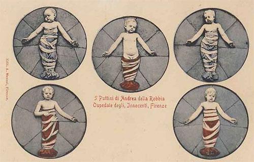Puttini di Andrea della Robbia: Ospedale degli Innocenti, Florence