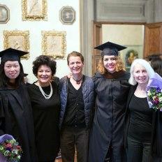 SACI 2016 MFA Commencement graduates and instructors