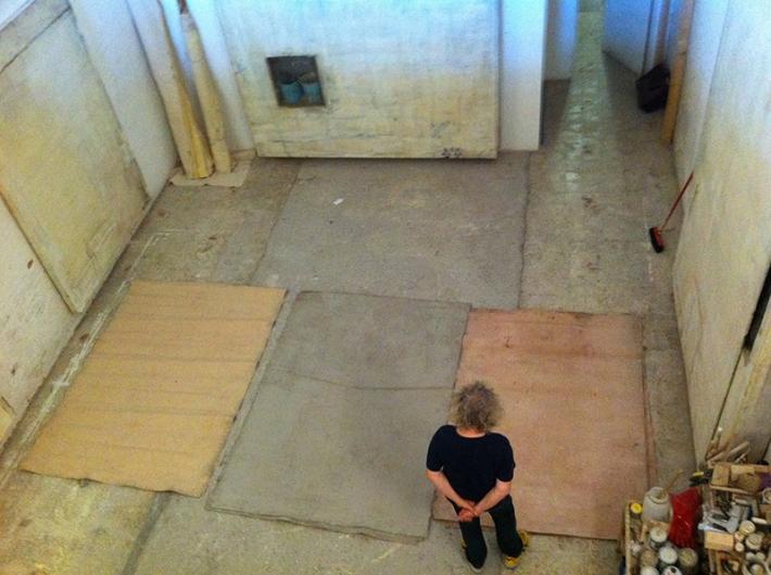 Lawrence Carroll in his studio