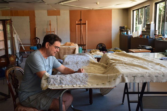 Filipe Rocha da Silva in his studio