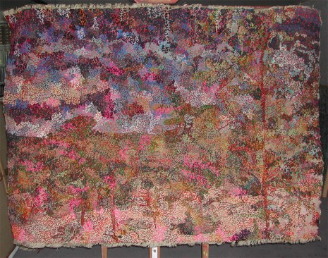 "Filipe Rocha da Silva, ""Fertility Landscape,"" Wool on textile, 59 x 76 inches, 2015"
