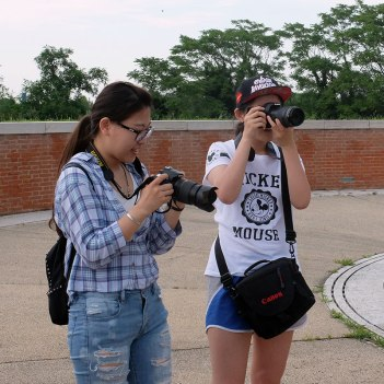 SACI photography students on the Venice Summer program