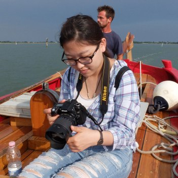 SACI photography student on the Venice Summer program