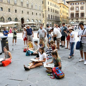 SACI drawing students in Florence