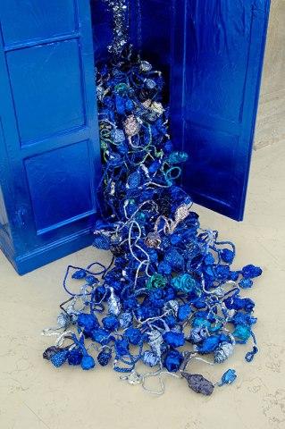 Enrica Borghi installation (aluminium chocolate wrappers)