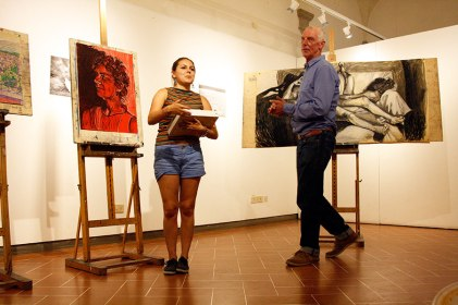 Grace DeWitt and Drawing Instructor, John Taylor