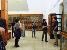 SACI students visiting the Biomedical collection at the Careggi hospital in Florence