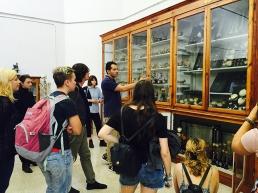 SACI students visiting the Biomedical collection at the Careggi hospital in Florence