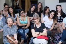 SACI students and guests at Enrica Borghi demonstration at SACI