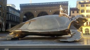 Jan Fabre, Looking for Utopia (2003), Piazza della Signoria, Florence (photo: Naomi Muirhead)