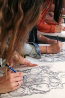 SACI's Intermediate Drawing class at the Museo del Duomo