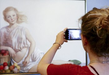 SACI student at John Currin exhibition