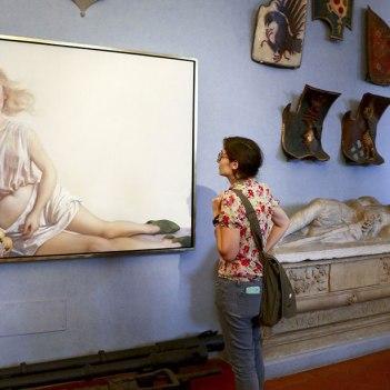 SACI Post-Bac student at John Currin exhibition