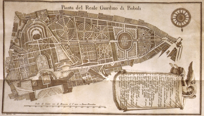 Antique plan of the Boboli Gardens