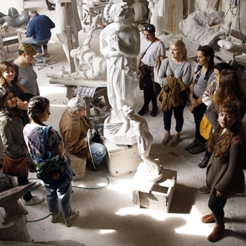 saci sculpture field trip to Pietrasanta Carrara Spring 2017 (14)