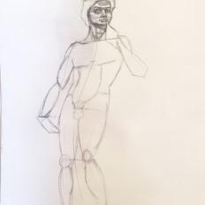 On-site sketch by Nellie Farrow